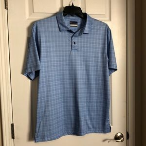 Jack Nicklaus size large blue plaid polo